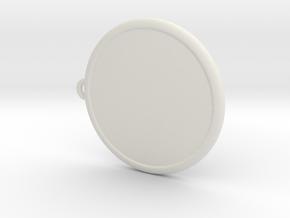 Colleizone Lion Pendant in White Natural Versatile Plastic