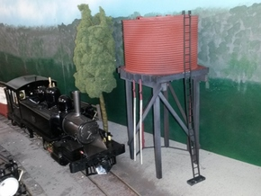 Victorian Railways 16mm scale Gould Water Tank in White Natural Versatile Plastic