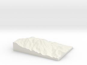 Mount Tamalpais: Topophile Model #0022 in White Strong & Flexible