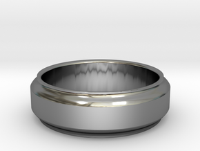 Geom2 ring in Fine Detail Polished Silver