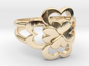 Size 6 Wife Ring  in 14k Gold Plated Brass