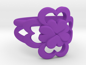 Size 7 Wife Ring  in Purple Processed Versatile Plastic