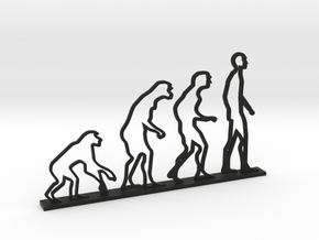 Human Evolution Desktop in Black Natural Versatile Plastic