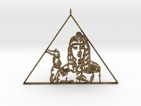 Katy Perry  Pendant (Dark Horse) 3D Jewellery   in Natural Bronze