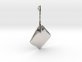 Stingray Pendant in Rhodium Plated Brass