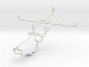 Controller mount for Xbox One & Acer Liquid Jade S in White Natural Versatile Plastic
