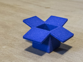 Dropbox 1cm in Blue Strong & Flexible Polished
