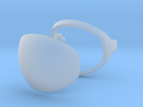 Mercury Astronaut / 1:12 / Helmet Visor in Frosted Ultra Detail