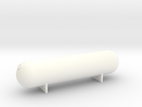 N Scale Large Propane Tank #1 in White Processed Versatile Plastic