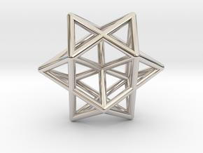 Star Pendant #1 in Rhodium Plated Brass
