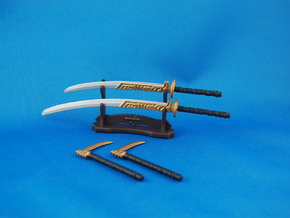 Samurai's Weapons Set in White Strong & Flexible Polished