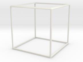 Cube Frame in White Natural Versatile Plastic