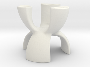 Candle Holder 3 Leg in White Natural Versatile Plastic