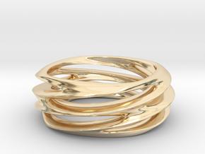 Triple Swirl Size 6 US in 14K Yellow Gold