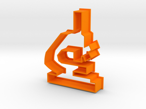 Microscope Cookie Cutter! in Orange Strong & Flexible Polished