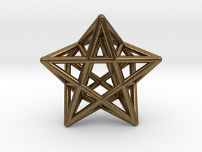 Star Pendant #2 in Natural Bronze