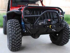 JK Winch Bumper - Gelände 2 in Black Natural Versatile Plastic
