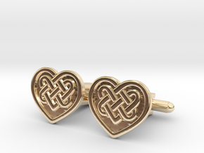 Heart Cufflink in 14K Yellow Gold