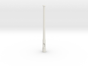 Mast für Bahnsteiguhr 1:32 in White Natural Versatile Plastic