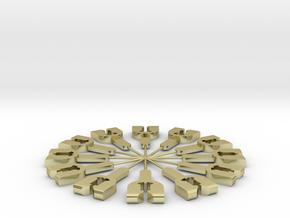 Federhalter für Spur1 Kupplung 1:32 in 18k Gold Plated Brass