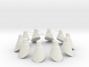 Lampenring 1:32 in White Natural Versatile Plastic