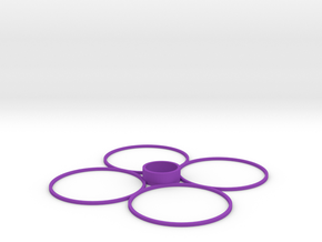 Cheerson CX-10 Quadcopter Prop Guards in Purple Strong & Flexible Polished