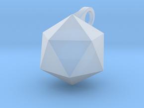 Icosahedron - Pendant in Smooth Fine Detail Plastic