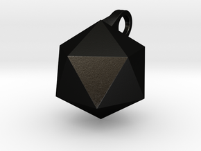 Icosahedron - Pendant in Matte Black Steel
