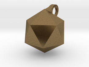 Icosahedron - Pendant in Natural Bronze