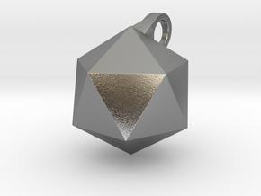 Icosahedron - Pendant in Natural Silver