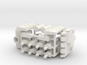 5mm Hands in White Natural Versatile Plastic