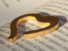 Thick Heart (3mm) in Polished Gold Steel