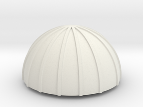 PVC Endcap - Silo 1 in White Natural Versatile Plastic