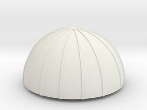 PVC Endcap - Silo 3 in White Natural Versatile Plastic