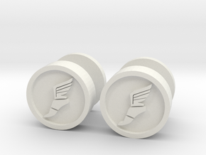Team Fortress 2 Scout Cufflink in White Natural Versatile Plastic