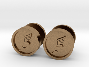 Team Fortress 2 Scout Cufflink in Natural Brass