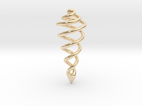 Spiral Drop Pendant in 14k Gold Plated Brass