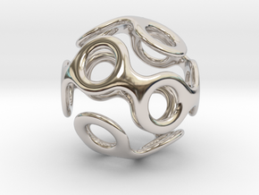 Wrapped Eyes #3 in Rhodium Plated Brass