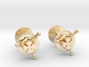 LuckySplash cufflinks in 14k Gold Plated Brass