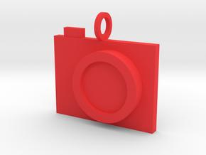 Camera Pendant in Red Processed Versatile Plastic