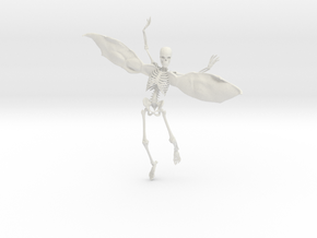 Fairy Skeleton - 8 Inches in White Natural Versatile Plastic