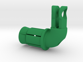 Wheel Skewer Virb Mount KCNC Insert in Green Processed Versatile Plastic