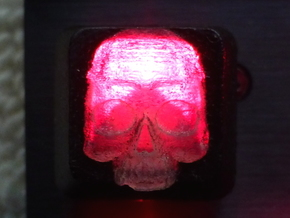 Topre Skull Keycap in Smooth Fine Detail Plastic