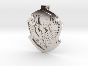 Ravenclaw House Crest - Pendant SMALL in Rhodium Plated Brass
