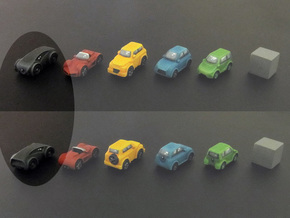 Miniature cars, Concept car (8pcs) in Black Strong & Flexible