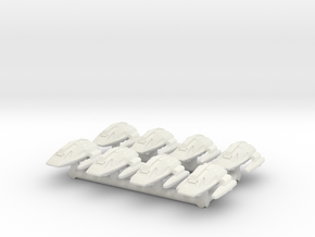 """1/1000 Scale Scampers """"Wave Riders"""" Pack in White Natural Versatile Plastic"""