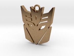 Transformers pendant in Natural Brass