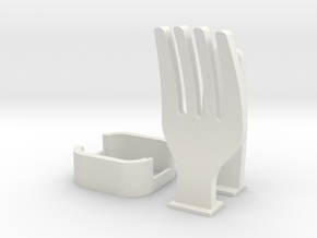 Fork Cable Organizer in White Natural Versatile Plastic