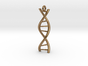 DNA Pendant with hook in Natural Brass