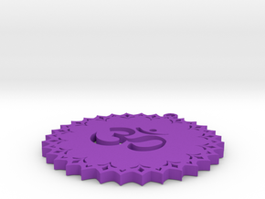 Symbol-jumbo-crown-chakra.stl in Purple Processed Versatile Plastic